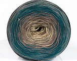 Fiber Content 50% Cotton, 50% Acrylic, Turquoise, Brand ICE, Grey Shades, Cream, Yarn Thickness 2 Fine  Sport, Baby, fnt2-55243