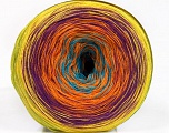 Fiberinnhold 50% Akryl, 50% Bomull, Yellow, Turquoise, Purple, Orange, Brand Ice Yarns, Green, fnt2-55255