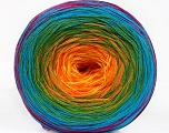 Fiber Content 50% Cotton, 50% Acrylic, Rainbow, Brand Ice Yarns, Yarn Thickness 2 Fine  Sport, Baby, fnt2-55256