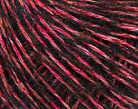 Fiber Content 9% Polyamide, 36% Viscose, 23% Polyester, 16% Cotton, Pink, Brand Ice Yarns, Black, fnt2-55258