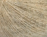Fiber Content 67% Alpaca Superfine, 6% Elastan, 27% Polyamide, Brand Ice Yarns, Cream, Beige, Yarn Thickness 1 SuperFine  Sock, Fingering, Baby, fnt2-55269