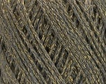 Fiber Content 40% Wool, 40% Acrylic, 20% Metallic Lurex, Light Grey, Brand ICE, Gold, Yarn Thickness 3 Light  DK, Light, Worsted, fnt2-55279