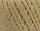 Fiber Content 40% Wool, 40% Acrylic, 20% Metallic Lurex, Brand ICE, Gold, Cream, Yarn Thickness 3 Light  DK, Light, Worsted, fnt2-55280