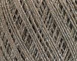 Fiber Content 50% Cotton, 30% Acrylic, 20% Metallic Lurex, Silver, Brand Ice Yarns, Camel, fnt2-55291