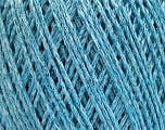 Fiberinnehåll 50% Bomull, 30% Akryl, 20% metalliskt Lurex, Light Blue, Brand Ice Yarns, fnt2-55296