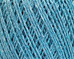 Fiber Content 50% Cotton, 30% Acrylic, 20% Metallic Lurex, Light Blue, Brand Ice Yarns, fnt2-55296