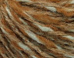 Fiber Content 50% Wool, 50% Acrylic, Mint Green, Brand ICE, Camel, Yarn Thickness 4 Medium  Worsted, Afghan, Aran, fnt2-55312