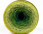 Fiber Content 50% Acrylic, 50% Cotton, Yellow, Turquoise, Brand Ice Yarns, Green Shades, Yarn Thickness 2 Fine  Sport, Baby, fnt2-55318