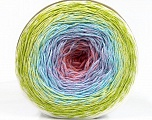 Fiber Content 50% Acrylic, 50% Cotton, White, Salmon, Lilac, Light Blue, Brand Ice Yarns, Green Shades, Yarn Thickness 2 Fine  Sport, Baby, fnt2-55319