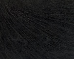 Knitted as 4 ply Fiber Content 40% Polyamide, 30% Acrylic, 30% Kid Mohair, Brand ICE, Black, Yarn Thickness 1 SuperFine  Sock, Fingering, Baby, fnt2-55323