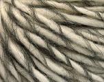 Fiber Content 50% Wool, 40% Acrylic, 10% Mohair, Brand Ice Yarns, Grey, Cream, fnt2-55331