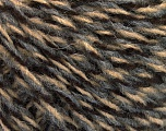 Fiber Content 70% Acrylic, 30% Wool, Brand Ice Yarns, Grey, Camel, Brown, fnt2-55340