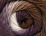 Fiber Content 50% Acrylic, 50% Wool, White, Purple, Brand Ice Yarns, Brown, fnt2-55383