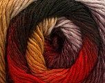 Fiber Content 50% Acrylic, 50% Wool, Red, Maroon, Brand Ice Yarns, Gold, Black, fnt2-55384