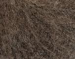 Fiber Content 40% Polyamide, 30% Kid Mohair, 30% Wool, Brand Ice Yarns, Brown Melange, fnt2-55387