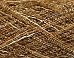 Kuitupitoisuus 87% Akryyli, 13% Metallinen Lurex, Khaki, Brand Ice Yarns, Gold, Cream, fnt2-55398
