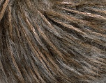 Fiber Content 30% Cotton, 28% Mohair, 23% Polyamide, 19% Acrylic, Brand Ice Yarns, Brown Shades, fnt2-55401