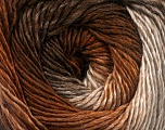 Fiber Content 50% Acrylic, 50% Wool, Brand Ice Yarns, Cream, Brown Shades, fnt2-55455