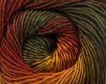 Fiber Content 50% Acrylic, 50% Wool, Brand Ice Yarns, Gold, Dark Green, Copper, fnt2-55458
