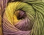Contenido de fibra 50% Lana, 50% Acrílico, Yellow, Lilac, Khaki, Brand Ice Yarns, fnt2-55461