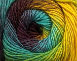 Contenido de fibra 50% Acrílico, 50% Lana, Yellow, Turquoise, Maroon, Brand Ice Yarns, Green, fnt2-55462