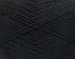 Fiber Content 75% Superwash Wool, 25% Polyamide, Brand Ice Yarns, Black, Yarn Thickness 1 SuperFine  Sock, Fingering, Baby, fnt2-55464