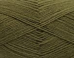 Fiber Content 75% Superwash Wool, 25% Polyamide, Khaki, Brand ICE, Yarn Thickness 1 SuperFine  Sock, Fingering, Baby, fnt2-55469