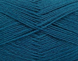 Fiber Content 75% Superwash Wool, 25% Polyamide, Teal, Brand Ice Yarns, fnt2-55476