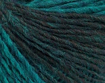 Fiber Content 60% Polyamide, 40% Wool, Turquoise, Brand Ice Yarns, Emerald Green, Brown, fnt2-55515