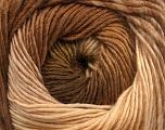 Contenido de fibra 50% Lana, 50% Acrílico, Brand Ice Yarns, Cream, Brown Shades, fnt2-55517