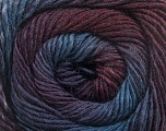 Fiber Content 50% Wool, 50% Acrylic, Purple, Maroon, Brand Ice Yarns, Blue Shades, fnt2-55518