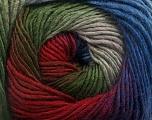 Contenido de fibra 50% Lana, 50% Acrílico, Red, Purple, Brand Ice Yarns, Grey, Green, Blue, fnt2-55520