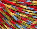 Fiber Content 60% Acrylic, 40% Wool, Yellow, Red, Brand ICE, Green, Blue, Yarn Thickness 3 Light  DK, Light, Worsted, fnt2-55529