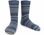 Состав пряжи 75% Superwash Wool, 25% Полиамид, Brand Ice Yarns, Blue Shades, Beige, Yarn Thickness 1 SuperFine  Sock, Fingering, Baby, fnt2-55551