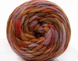 Fiber Content 100% Wool, Lilac, Brand Ice Yarns, Brown Shades, Yarn Thickness 6 SuperBulky  Bulky, Roving, fnt2-55553