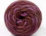 Fiber Content 100% Wool, Maroon, Lilac, Brand Ice Yarns, Brown, Yarn Thickness 6 SuperBulky  Bulky, Roving, fnt2-55554