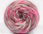 Fiber Content 100% Wool, Pink Shades, Light Grey, Brand ICE, Yarn Thickness 6 SuperBulky  Bulky, Roving, fnt2-55556