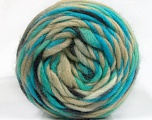 Fiber Content 100% Wool, Turquoise, Brand Ice Yarns, Beige, Anthracite, Yarn Thickness 6 SuperBulky  Bulky, Roving, fnt2-55557