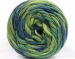 Kuitupitoisuus 100% Villa, Brand Ice Yarns, Green Shades, Blue Shades, Yarn Thickness 6 SuperBulky  Bulky, Roving, fnt2-55558
