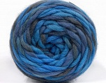 Fiber Content 100% Wool, Brand Ice Yarns, Grey, Blue Shades, Yarn Thickness 6 SuperBulky  Bulky, Roving, fnt2-55559