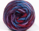 Fiber Content 100% Wool, Purple, Lilac, Brand Ice Yarns, Burgundy, Blue, Yarn Thickness 6 SuperBulky  Bulky, Roving, fnt2-55560