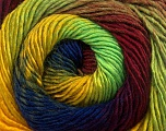Fiber Content 50% Acrylic, 50% Wool, Yellow, Neon Green, Brand Ice Yarns, Burgundy, Blue, Yarn Thickness 2 Fine  Sport, Baby, fnt2-55563
