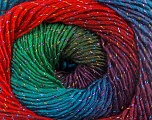Fiber Content 48% Wool, 48% Acrylic, 4% Metallic Lurex, Red, Purple, Brand Ice Yarns, Green, Blue, Yarn Thickness 2 Fine  Sport, Baby, fnt2-55570