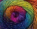 Conţinut de fibre 48% Lână, 48% Acrilic, 4% Metalic lurex, Rainbow, Brand Ice Yarns, Yarn Thickness 2 Fine  Sport, Baby, fnt2-55571