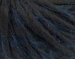 Fiber Content 50% Acrylic, 5% Polyamide, 35% Wool, 10% Mohair, Navy, Brand Ice Yarns, Black, fnt2-55590