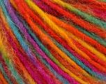Fiber Content 50% Wool, 50% Acrylic, Yellow, Orange, Brand Ice Yarns, Fuchsia, Blue, fnt2-55593