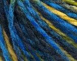 Fiber Content 50% Acrylic, 50% Wool, Yellow, Brand ICE, Green Shades, Blue, fnt2-55595