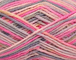 Fiber Content 60% Polyamide, 40% Viscose, Pink, Light Lilac, Brand Ice Yarns, Grey, fnt2-55599