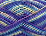 Fiber Content 60% Polyamide, 40% Viscose, Yellow, Purple, Light Green, Brand Ice Yarns, fnt2-55601