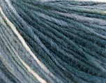 Fiber Content 50% Acrylic, 50% Viscose, White, Brand Ice Yarns, Grey Shades, fnt2-55604